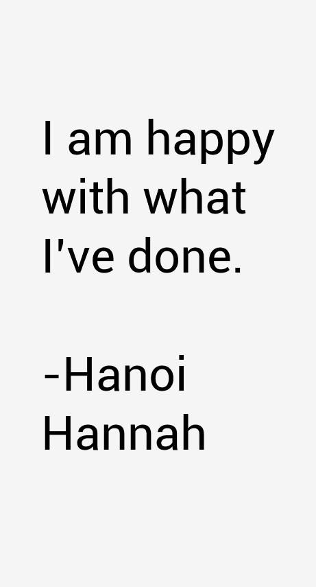 Hanoi Hannah Quotes