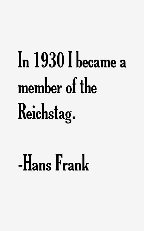 Hans Frank Quotes