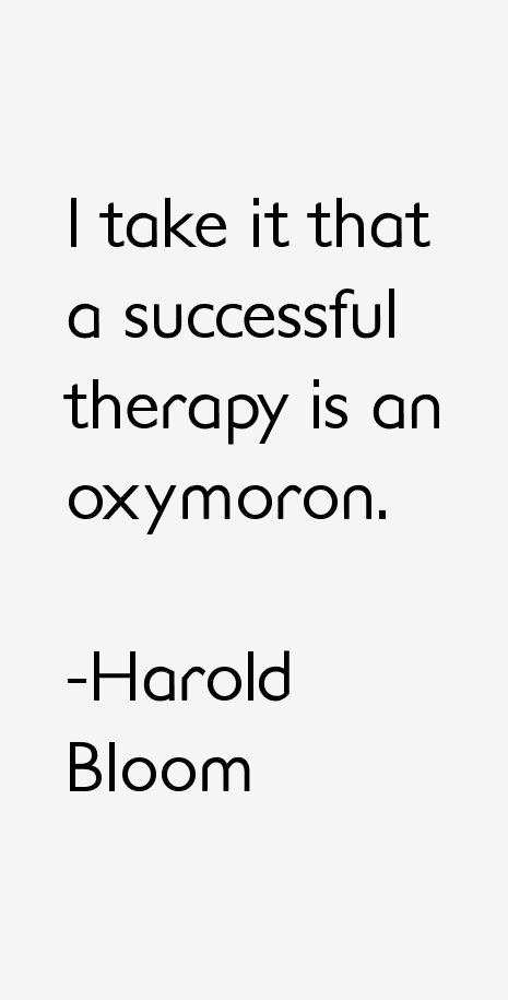Harold Bloom Quotes