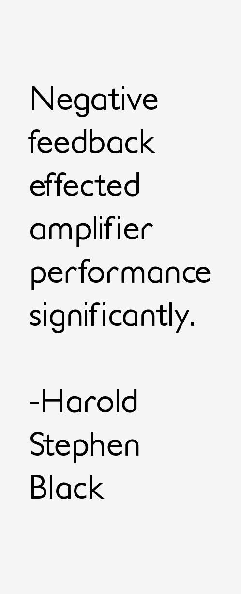 Harold Stephen Black Quotes