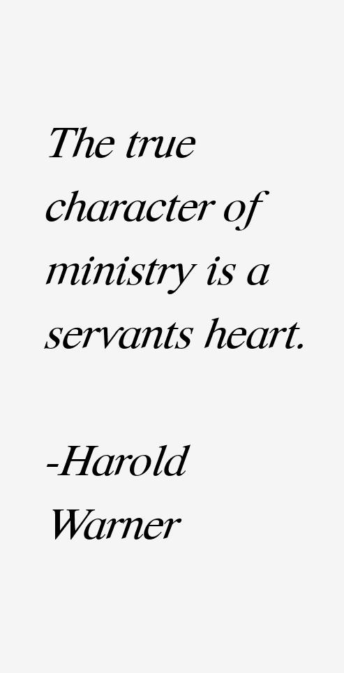 Harold Warner Quotes