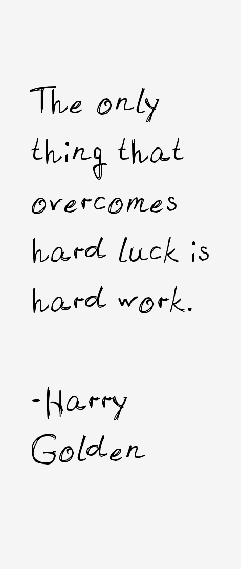Harry Golden Quotes