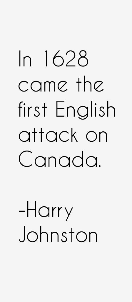 Harry Johnston Quotes