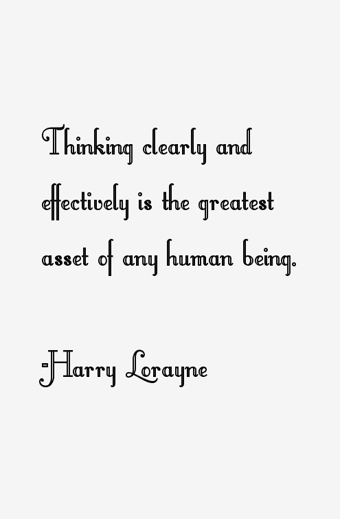 Harry Lorayne Quotes