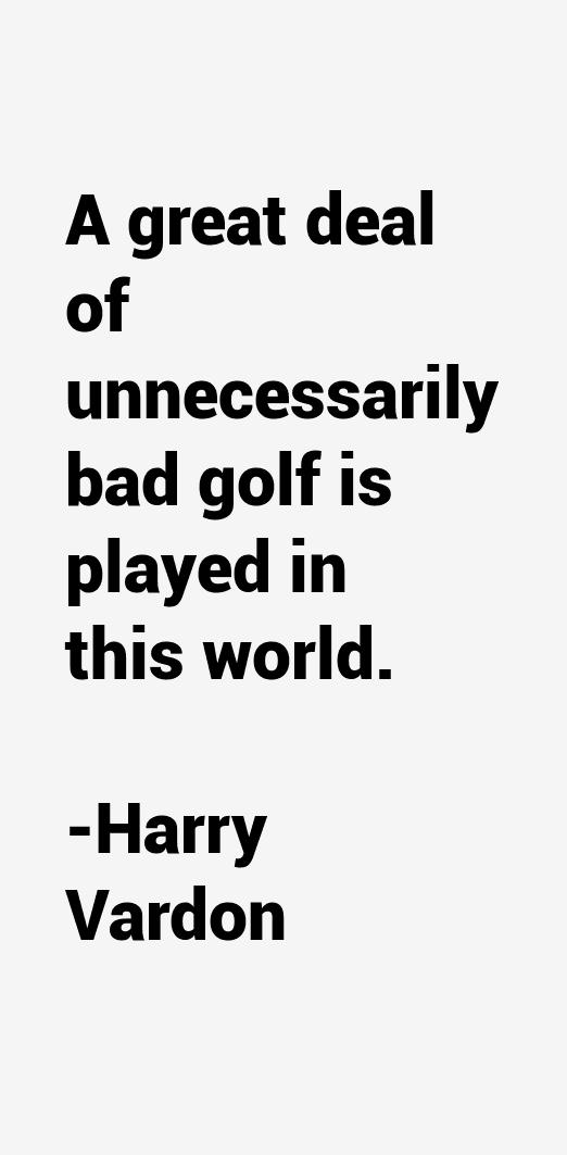 Harry Vardon Quotes