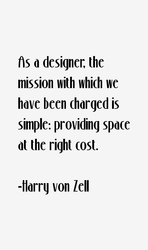 Harry von Zell Quotes