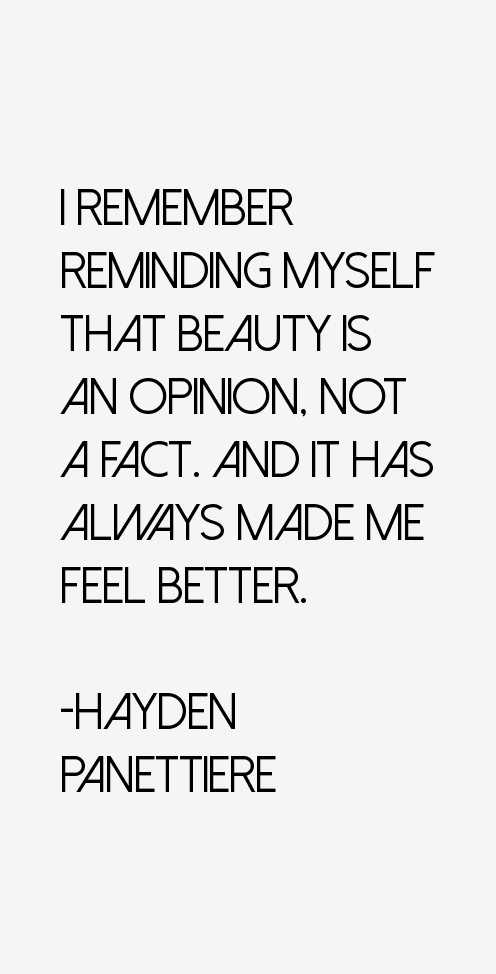 Hayden Panettiere Quotes