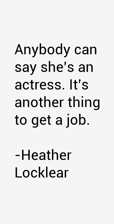 Heather Locklear Quotes