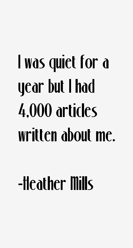 Heather Mills Quotes