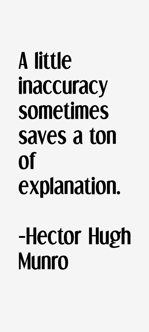Hector Hugh Munro Quotes