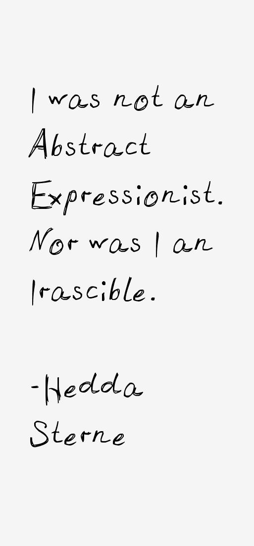 Hedda Sterne Quotes