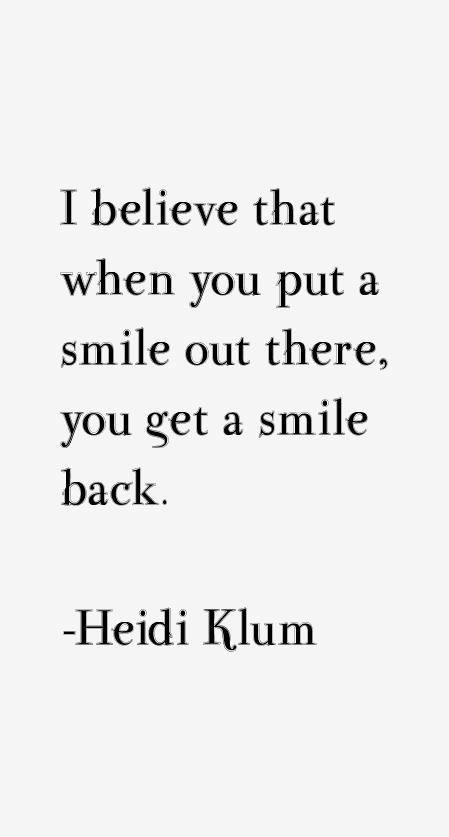 Heidi Klum Quotes