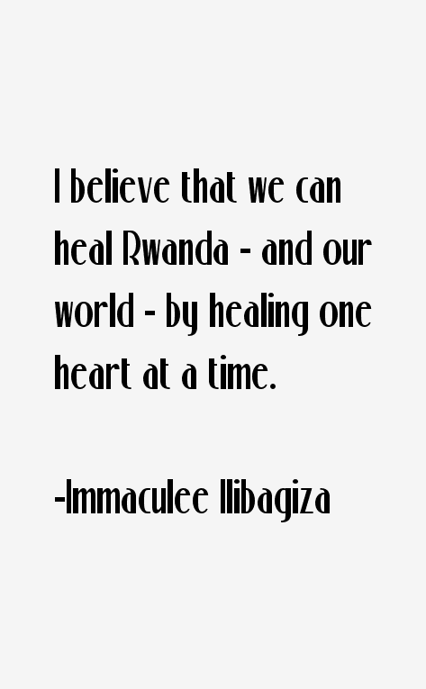 Immaculee Ilibagiza Quotes