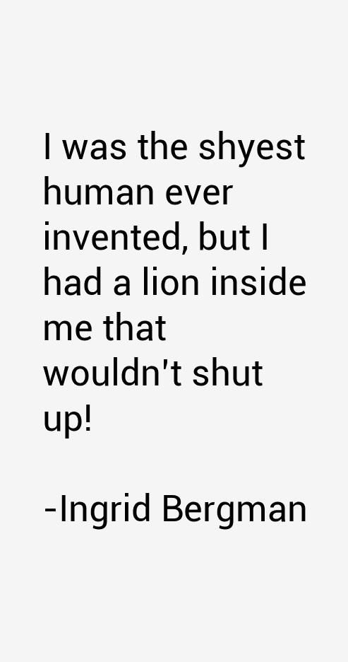 Ingrid Bergman Quotes
