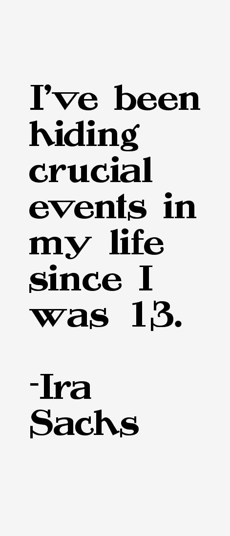 Ira Sachs Quotes