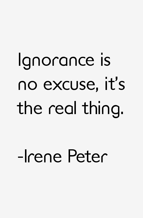 Irene Peter Quotes