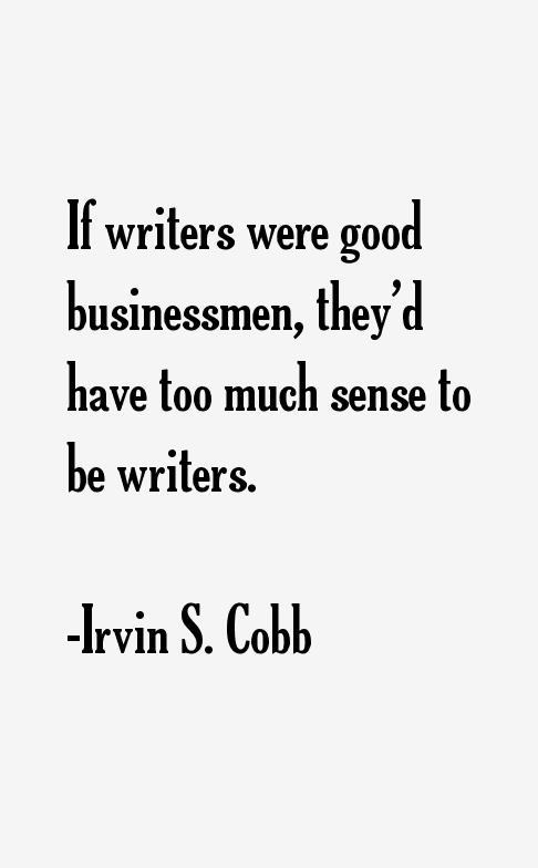 Irvin S. Cobb Quotes