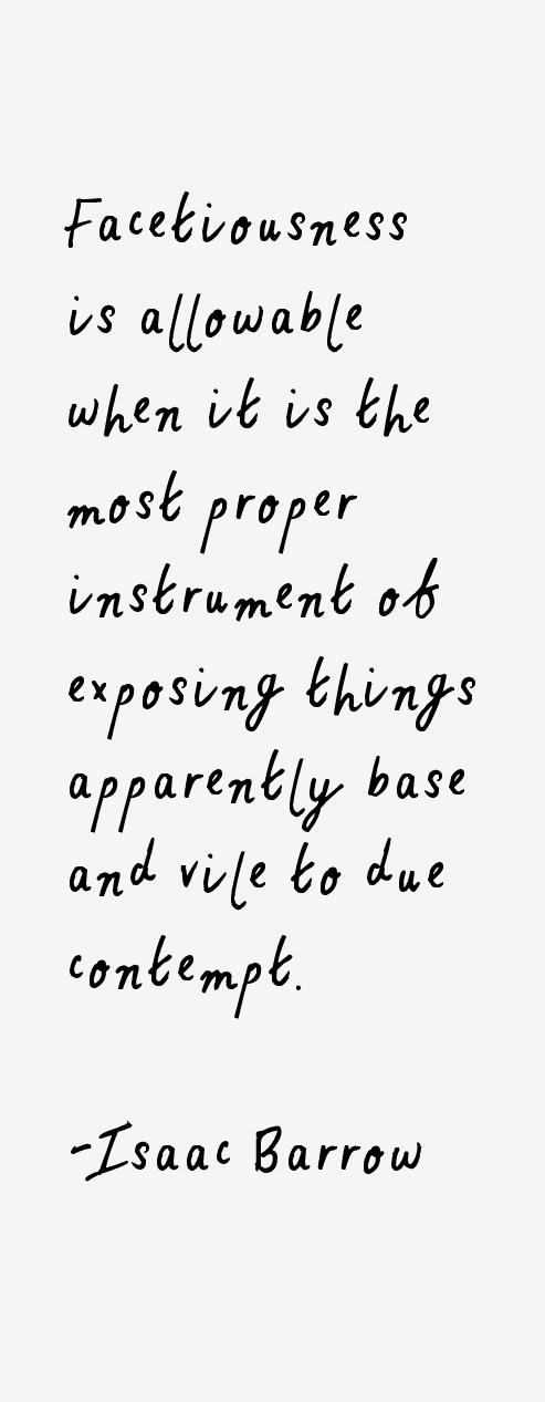 Isaac Barrow Quotes