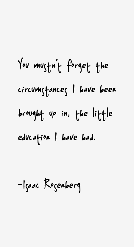 Isaac Rosenberg Quotes