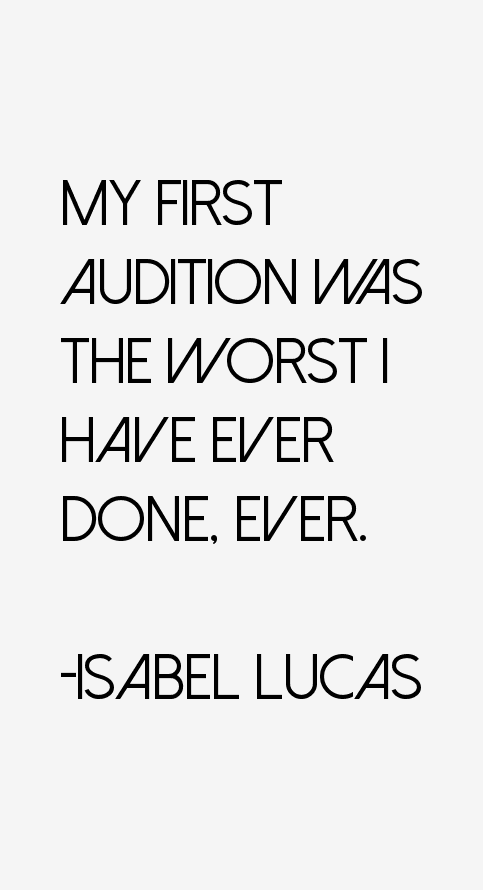 Isabel Lucas Quotes