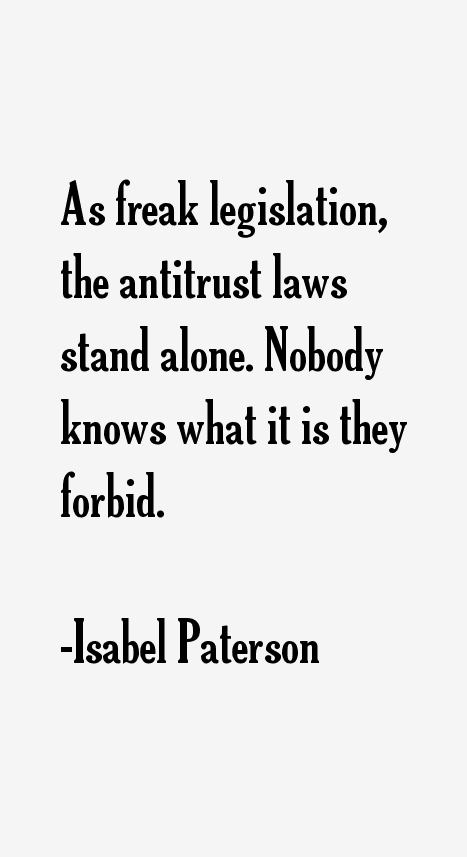Isabel Paterson Quotes