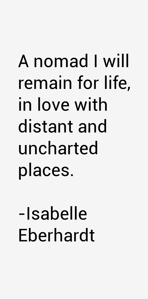 Isabelle Eberhardt Quotes
