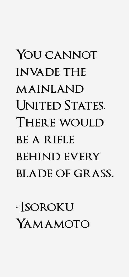 Isoroku Yamamoto Quotes