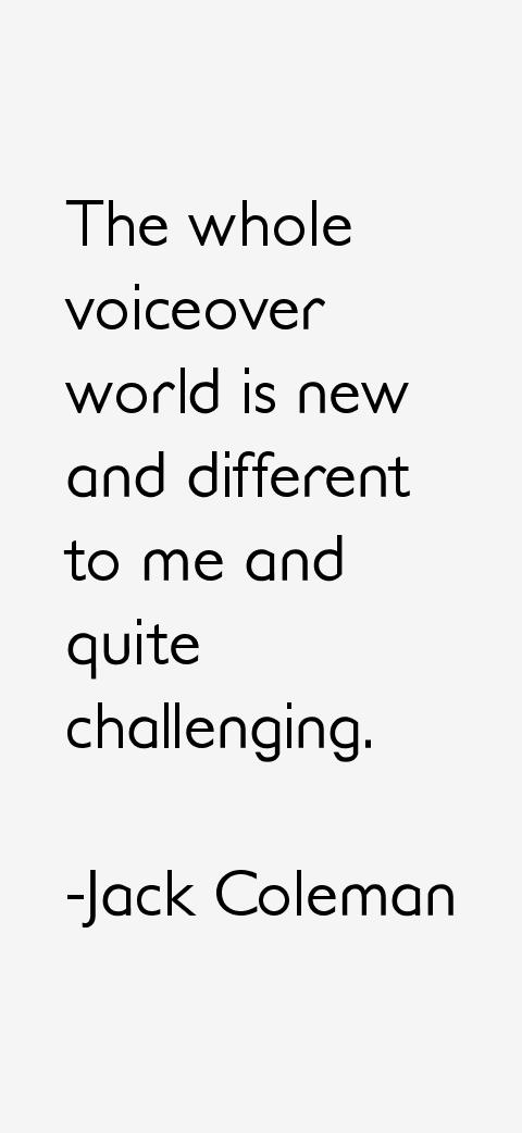 Jack Coleman Quotes