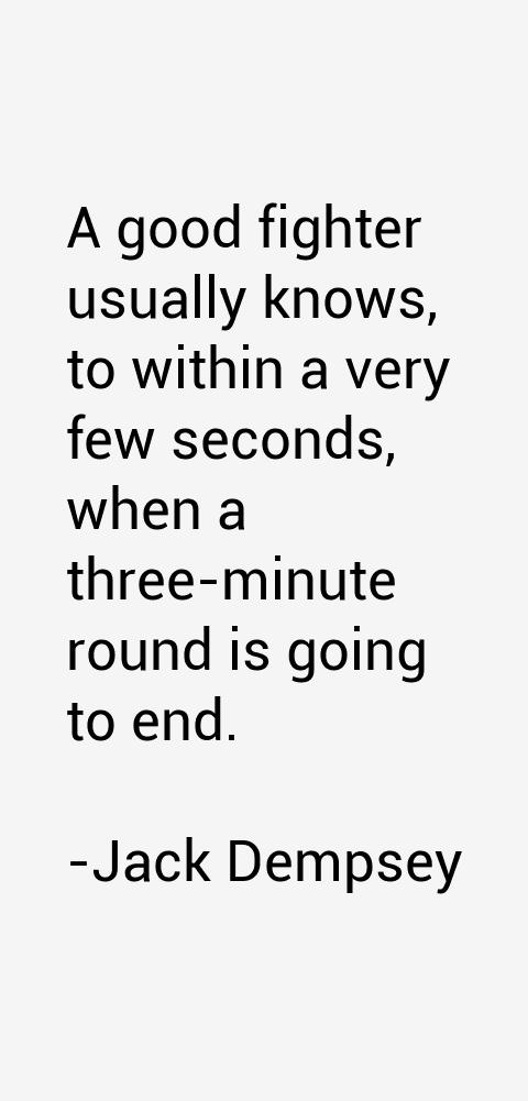 Jack Dempsey Quotes