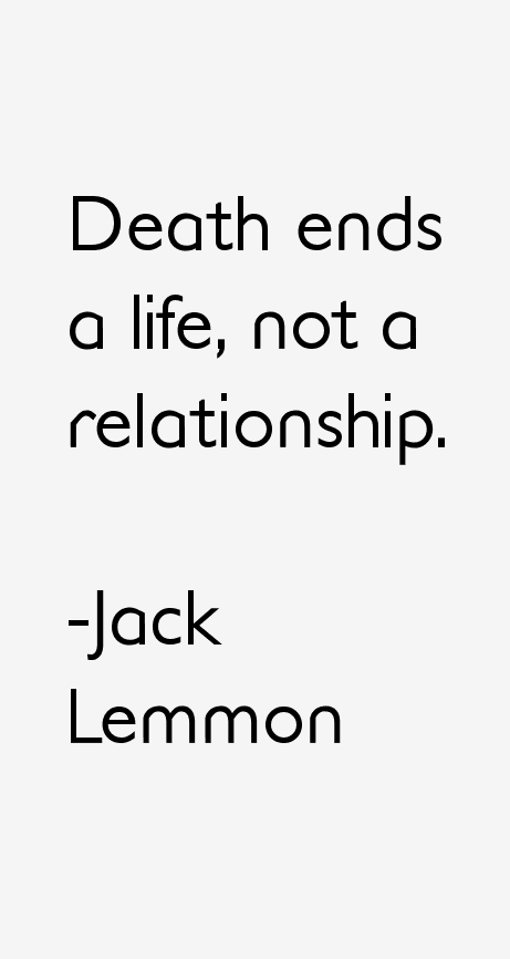 Jack Lemmon Quotes