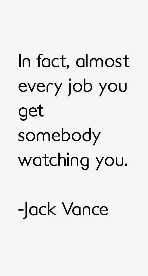 Jack Vance Quotes
