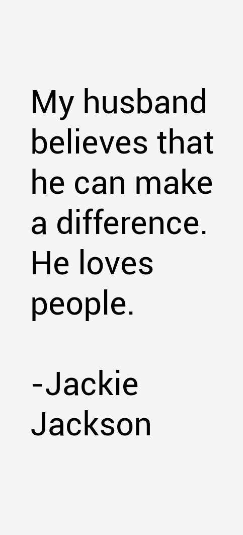 Jackie Jackson Quotes