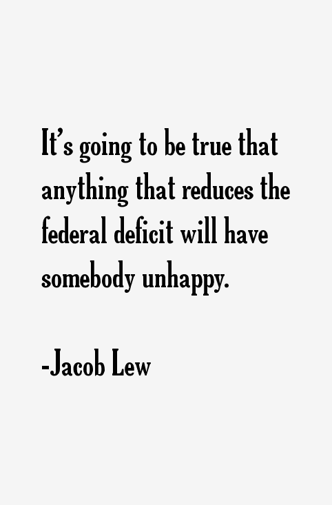 Jacob Lew Quotes