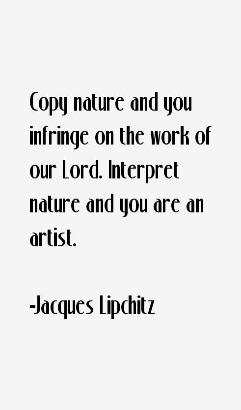 Jacques Lipchitz Quotes