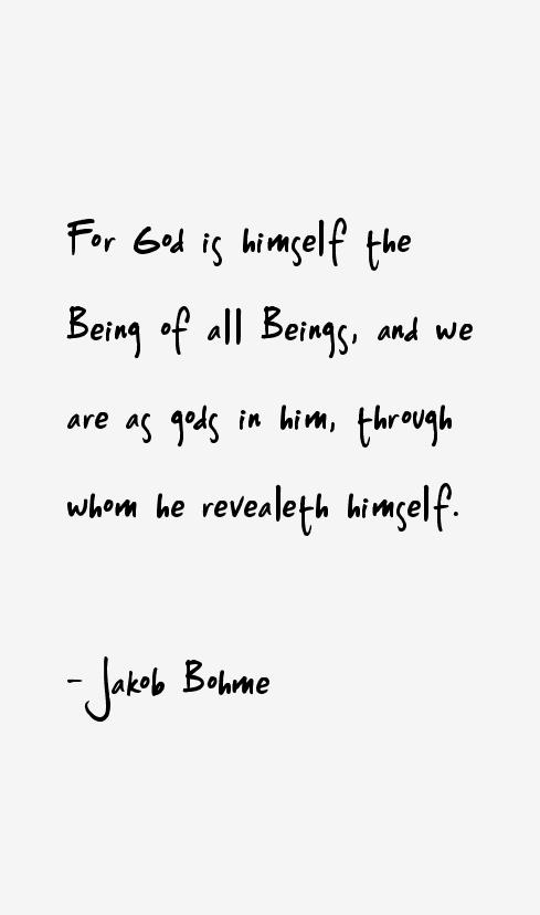 Jakob Bohme Quotes