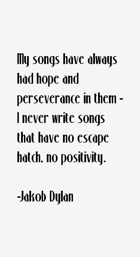 Jakob Dylan Quotes