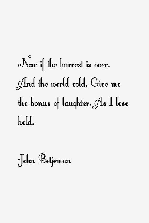 John Betjeman Quotes