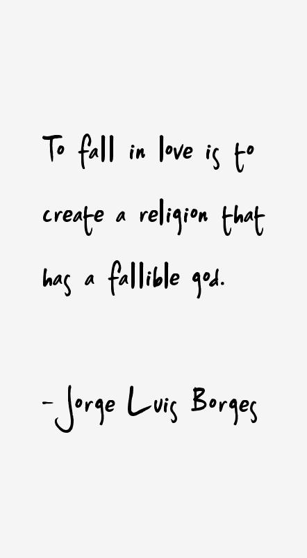 Jorge Luis Borges love quotes