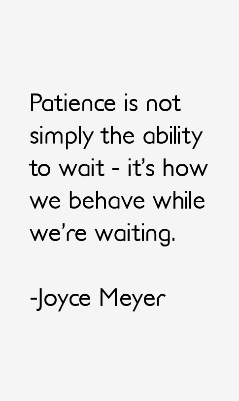 having patience while dating
