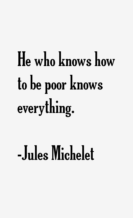 he who knows to be poor