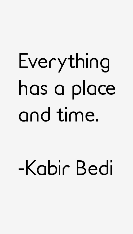 Kabir Bedi Quotes Amp Sayings