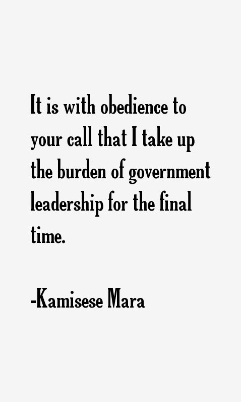 Kamisese Mara Quotes