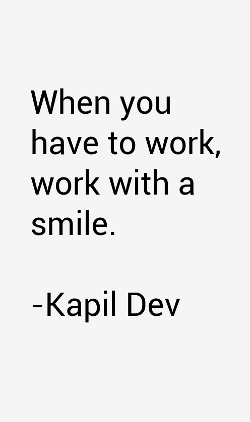 Kapil Dev Quotes