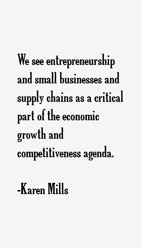 Karen Mills Quotes
