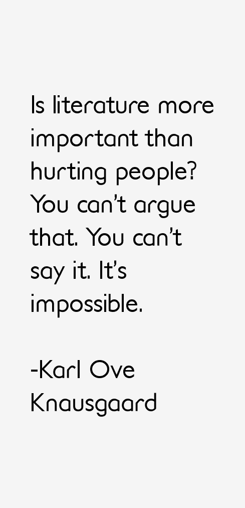 Karl Ove Knausgaard Quotes