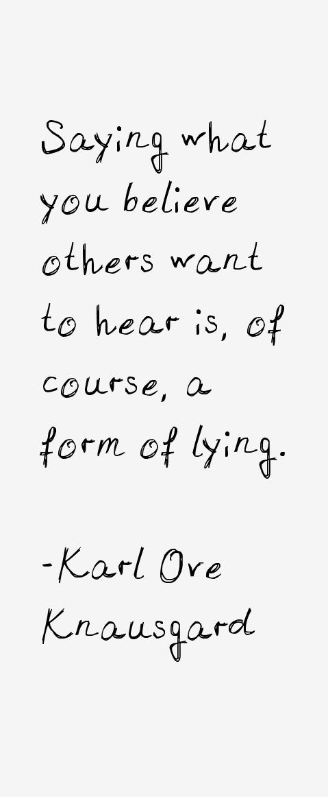 Karl Ove Knausgard Quotes