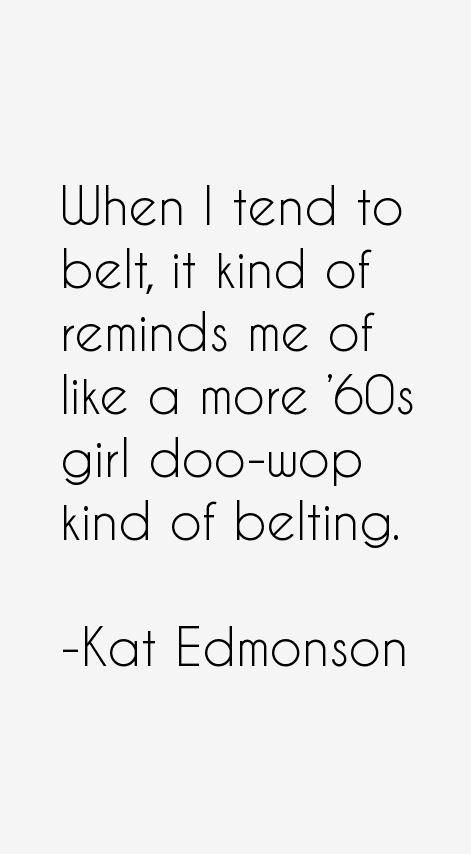 Kat Edmonson Quotes