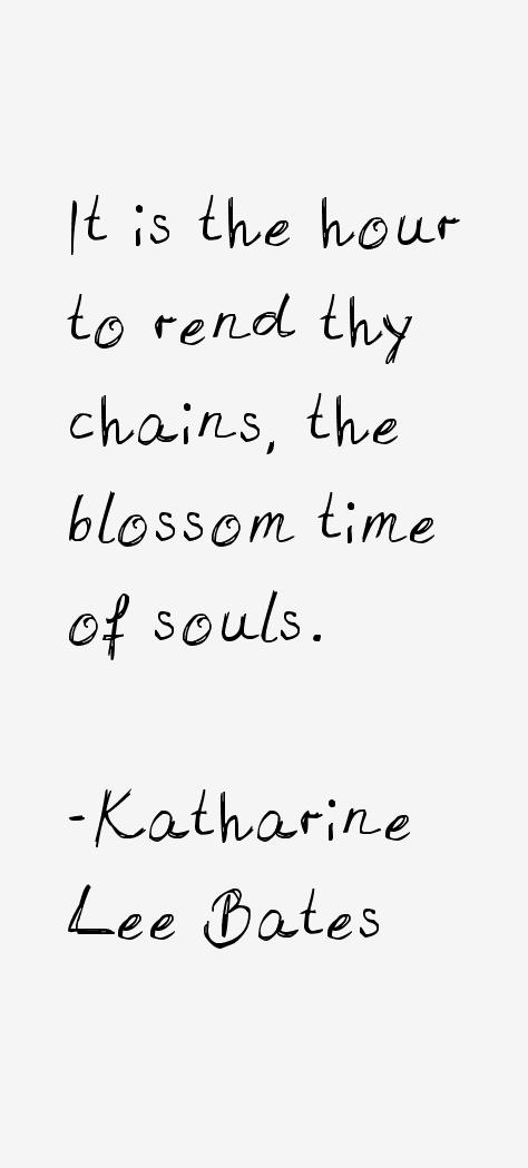 Katharine Lee Bates Quotes