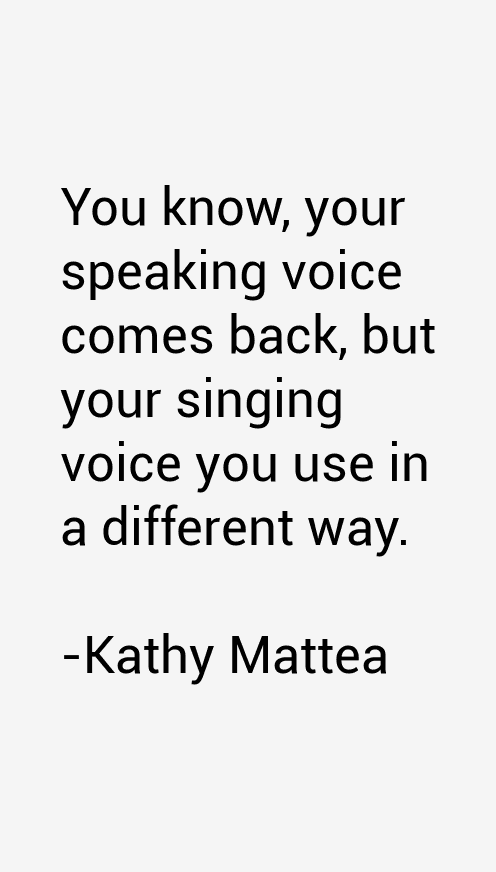 Kathy Mattea Quotes