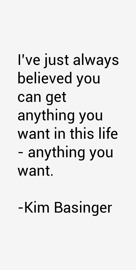 Kim Basinger Quotes & Sayings